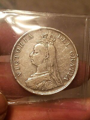 1890 silver great Britain double florin