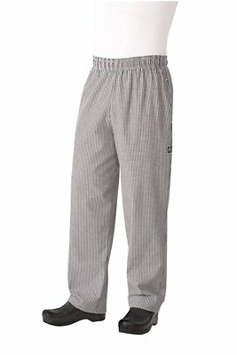 Chef Works Men's Essential Baggy Checkered Chef Pants size S NBCP