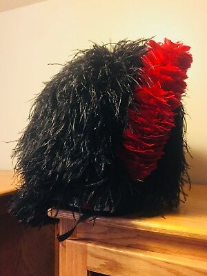 Scottish Highlander Feather Bonnet, Rarely Worn, Real Ostrich Feathers.