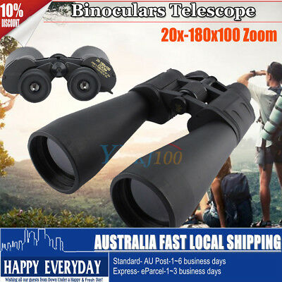 70mm Tube 20-180X100  Zoom Night Vision HD Binoculars Telescope Outdoor Black