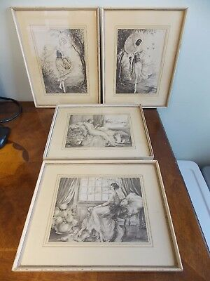J Dorval Antique Lithograph Print Art Deco 1925-1940