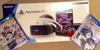 New Sony PlayStation PS4 VR Launch Bundle + Madden17 & NHL17 Games