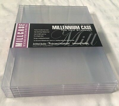 MILLCASE - NEW SEALED Comic Book Holder - Hard Case (5 Pack)
