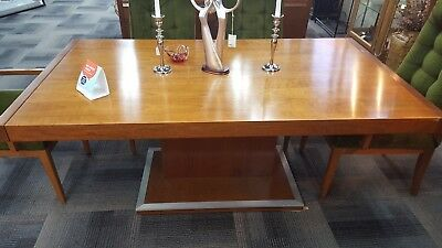 Stunning Brutalist Mid Century Dining table and chairs, Founders Furniture