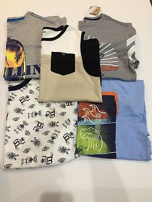 Boys Gymboree Lot size 14 Shirts and colorblock tank NWT robot surf