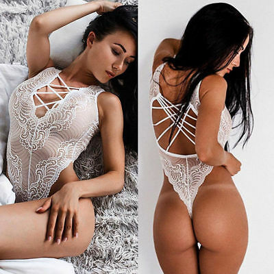 New Women Lingerie Buy Usa White Lace Teddy Exotic Dancer Sleepwear Stripper A13