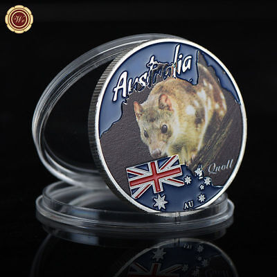 WR Australia Quoll Colored Silver Coin 2017 Tuvalu $1 New Year Gifts For Kids