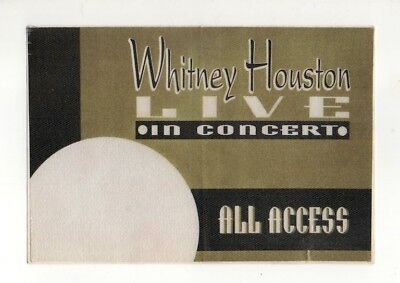 Whitney Houston Satin All Access Backstage Pass, Unused