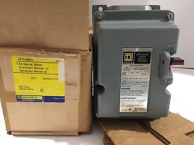 Manual Motor Starter, Square D, 2510MBR2 NEW!