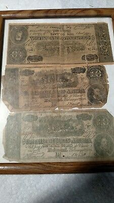1861 t13 $100 Confederate Counterfeit Note Advertising notes same time frame fak