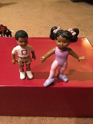 Fisher Price Loving Family African American Boy Brother Ballerina Sister Girl