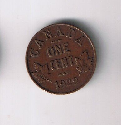 1929 Canada Penny 1 small cent Canadian 1c EXTRA FINE !