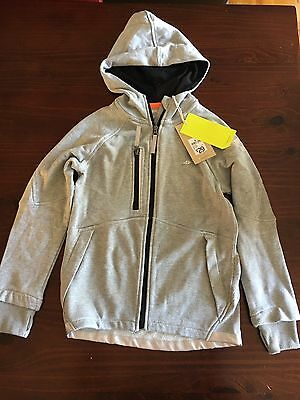 NWT Target grey zip hoodie with thumb holes & reflective trim Size 8 (rrp $29)