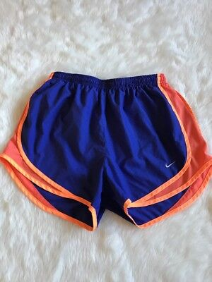 Nike Women's Tempo Dri-Fit Shorts Purple Orange Running Size Medium