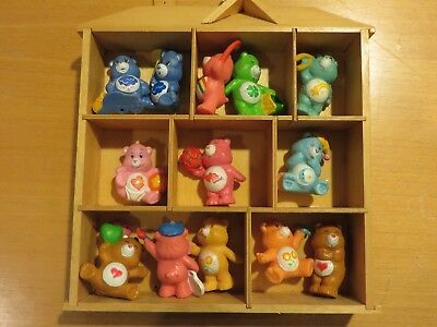 Vintage Lot of 13 1983-1984 Care Bears PVC Mini in Display House