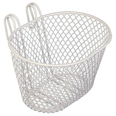 Wire Mesh Front Bike Carry Doll Storage Basket for Kids Bike WHITE