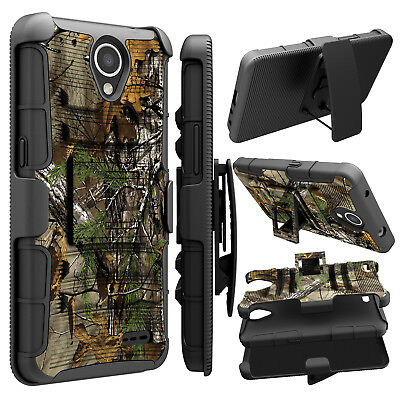 For ZTE Maven 3 Z835/Overture 3 Hybrid Holster Stand Shockproof Phone Case Cover