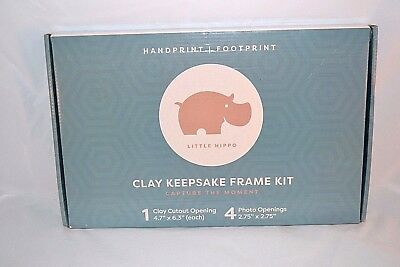 Baby Handprint Kit by Little Hippo! Baby Picture Frame & Non Toxic Clay
