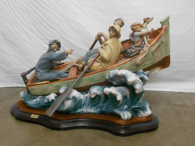 """Lladro Large Beautiful Piece """"the Rescue"""""""