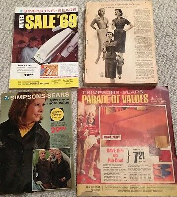 Vintage Simpsons Sears Catalogues Lot Of 4