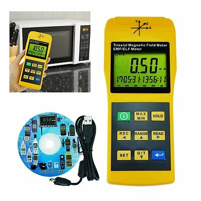 2000mG Datalogger Electromagnetic Field Detector Radiation Tester EMF 2000Hz