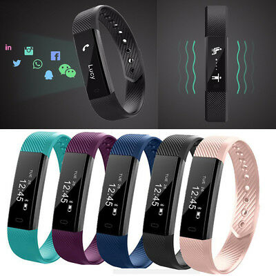 Bluetooth Activity Tracker - Smart Fitness Pedometer Step Counter Wrist Band