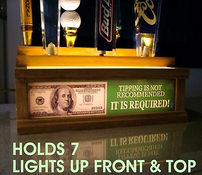 HUNTERS LODGE beer tap handle display //Lights up your handles with led bar sign