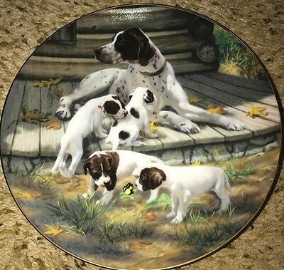 POINTERS Robert Christie Classic Sporting Dogs Puppy Playing Plate