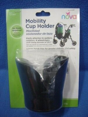 Nova CH-2000 Mobility Cup Holder for Walkers Rollators Wheelchairs No Tools Requ