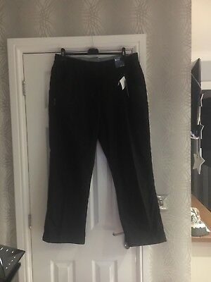 Ladies Black Size 18 Mountain Warehouse Combat Trousers. New With Tags