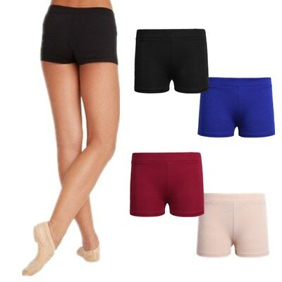 NWT Boy Cut Shorts Low Rise Body Shorts 4 Colors Girls Spandex Dance Gym Cheer