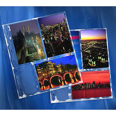 50 x CLEAR FILE 4x6 Film/Photo Pages Sleeves Archival Storage System # 35B i