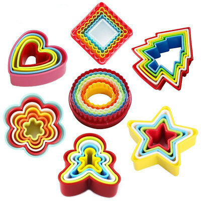3D Plastic Christmas Tree Cookie Cutter Shape Biscuit Fruit Cake Mold 5PCS RM6