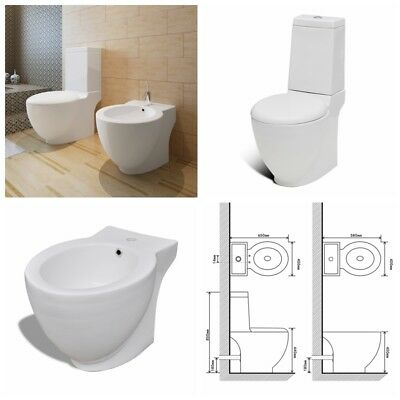 keramik bodenstehend toilette bidet set wei sp lkasten softclose sitzklo eur 209 99. Black Bedroom Furniture Sets. Home Design Ideas