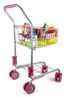 Pretend Play Shopping Cart SuperMarket Toy for Kids Shop Cash Register Bday Gift