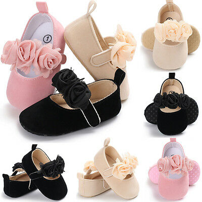 Newborn Baby Infant Girl Crib Shoes Pram Soft Sole Prewalker Anti-slip Sneakers
