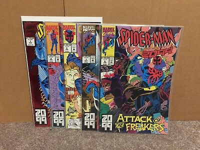 Spider-Man 2099 1 2 3 7 8 NM Lot 5 Issues Combine Shipping Marvel Comics