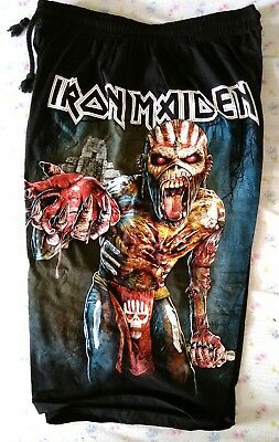 Iron Maiden Rock Heavy Metal band Music  Shorts Top quality Fits waist 28 to 44