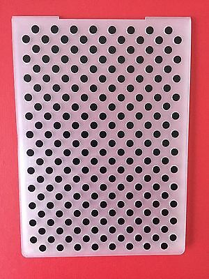 NEW• SPOTS EMBOSSING FOLDER For Cuttlebug Or Sizzix