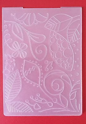 NEW• TROPICAL LEAVES EMBOSSING FOLDER For Cuttlebug Or Sizzix