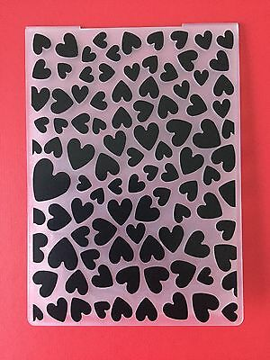 NEW• LOTS Of HEARTS EMBOSSING FOLDER For Cuttlebug Or Sizzix