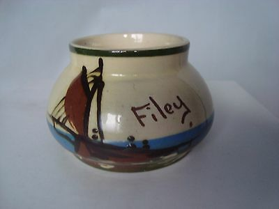 Vintage Moto Devon Torquay Ware Filey A Little Bit Of Sugar Bowl Sailing Boat