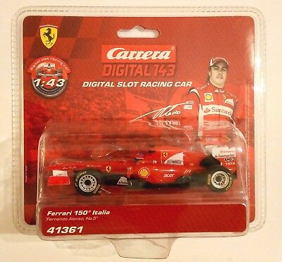 "Carrera DIGITAL 143 Ferrari 150 Italia ""Fernando Alonso, No.5"" 41361 NEU"