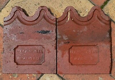 AntiqueTerracotta edging tiles . Victorian /Edwardian  style.