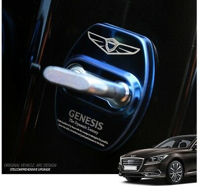 Stainless Steel Door Striker Cover 4Color For 2016~2019+ Genesis G80 G70 & Sport