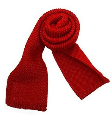 NEW Warm winter Kids long Knitted pullover Scarf Solid Color Toddler RED