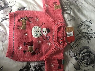 Baby Girls Christmas Jumper Next BNWT 3-6 Months Xmas Party