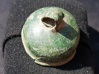 Very rare lovely Roman bronze incense burner top unique find from England L21m