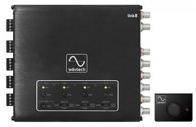 WavTech Link8 8-Channel Line Output Driver LOC Hi Low RCA Aux, Summing & Remote