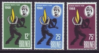Brunei 1968 SC 147-149 MH Set Human Rights Year